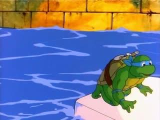 Невероятное превращение черепашек в лилипутов / The Incredible Shrinking Turtles (1988) - Эпизод №7 (Сезон №2)
