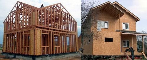 Отличие каркасных домов / сип панелей