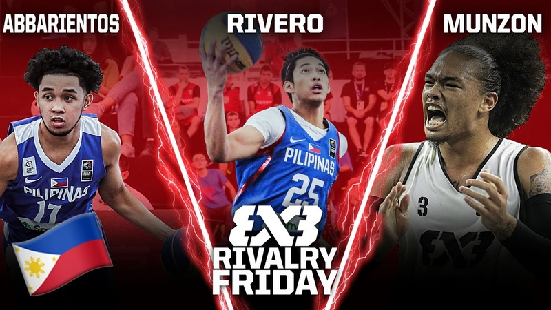 Ricci Rivero R J Abarrientos or Munzon Who's the BEST Filipino in 3x3 FIBA 3x3 Rivalry Friday