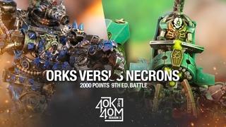 Orks VS Necrons Warhammer 40k Battle Report 2000 Points - The return of Watson!