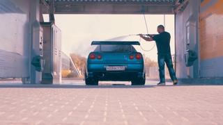 My Godzilla takes bath | Nissan Skyline GT-R Nur V-Spec II