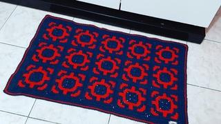 Tapete de Croche  AZUL PETROLEO Por Neddy Ghusmam