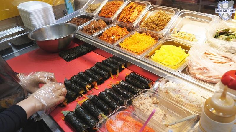 가성비 굿~ 11가지 꼬마김밥 모듬팩이 5000원 길거리음식 울산 신정시장
