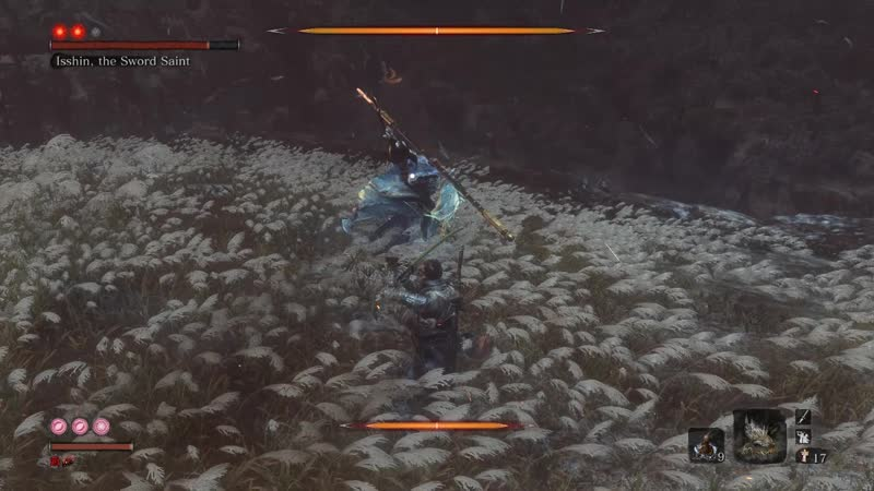 SEKIRO SHADOWS DIE TWICE Isshin Sword Saint No Kuro's Charm Demon Bell ATK 99 Base Vitality