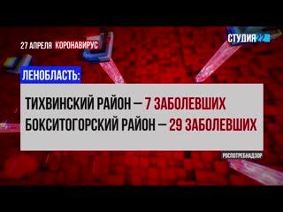 Коронавирус: информация по Бокситогорскому району на 27 апреля