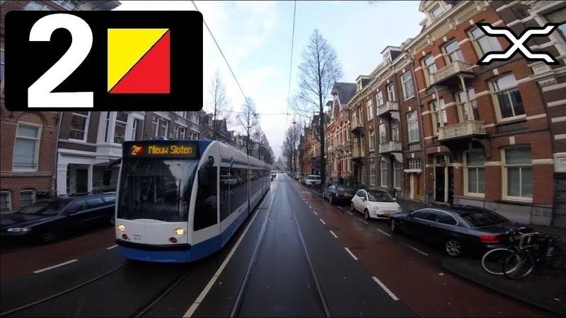 🚋 GVB Amsterdam Tramlijn 2 Cabinerit Nieuw Sloten Centraal Station Driver's view POV 2018