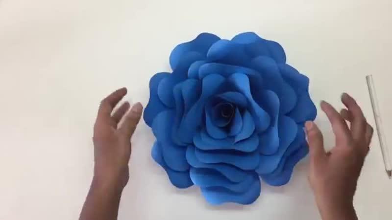 Бумажный цветок настенное украшение