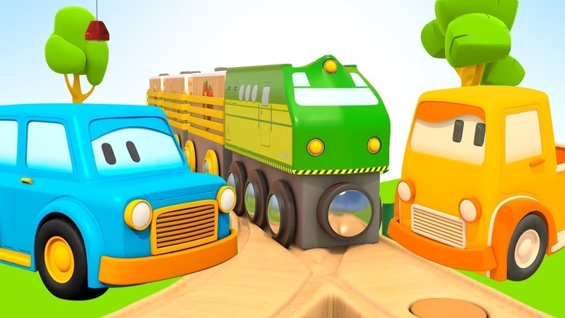 Küçük çocuklar için çizgi film Akıllı arabalar! Tren yapalım! Seçkin bölümleri izle