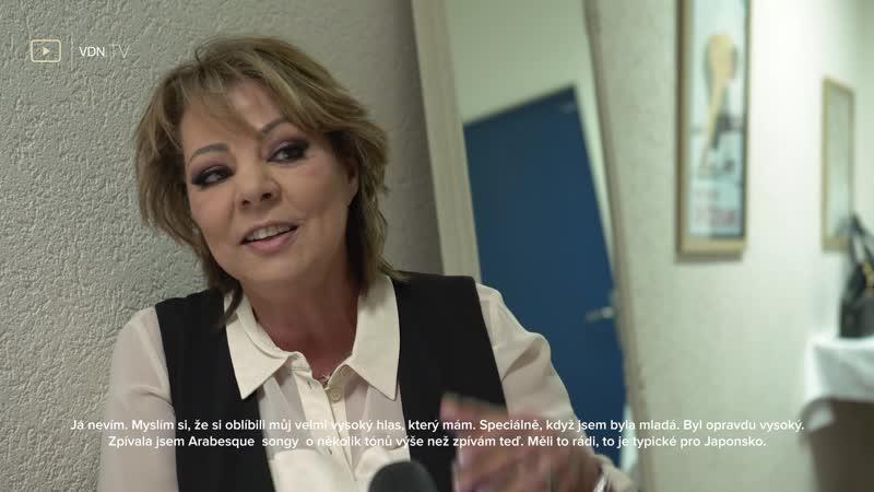 Sandra - Interview about concerts in Prague Příbram. 1