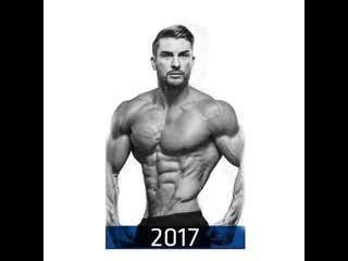 Трансформация тела за 10 лет. Как накачать мышцы рук ног пресс. Бодибилдинг, качалка, тренировки, тренинг программа, спорт мышцы