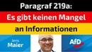 Jens Maier AfD Paragraf 219a Es gibt keinen Mangel an Informationen