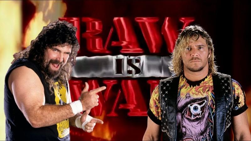 WWE 2K20 Cactus Jack vs Brian Pillman Raw Is War '97 Falls Count Anywhere Match