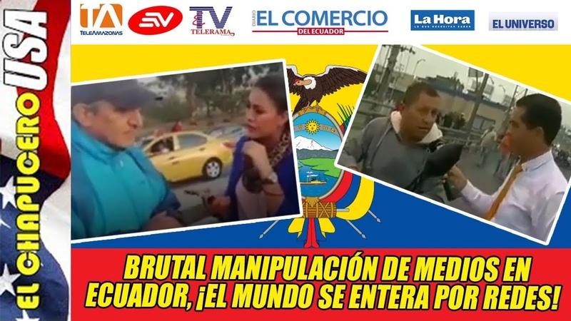 Insólita manipulación de medios en Ecuador! Quieren esconder enojo social