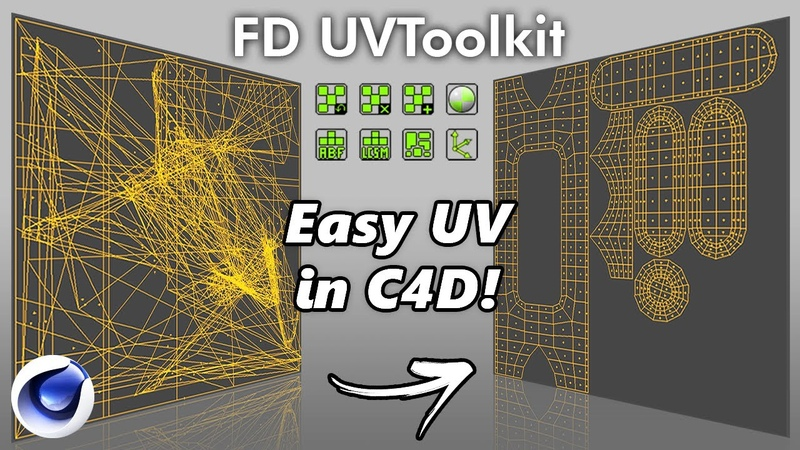 FD UVToolkit Cinema4d UV Unwrapping Plugin