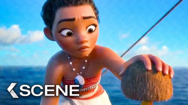 Hei Hei on the Ocean Scene - MOANA (2016)