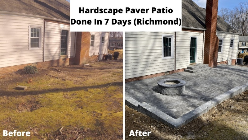 Hardscape Paver Patio done In 7 Days Richmond Va