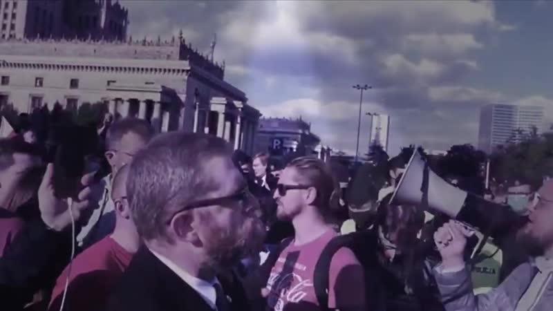 Grzegorz Braun chronił protestujących przedsiębiorców przed policją Paweł Tanajno zatrzymany