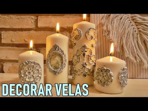 Cómo decorar velas con Masa de secado al aire Trucos caseros de decoración