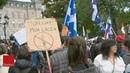 Des centaines de manifestants contre les mesures sanitaires à Québec