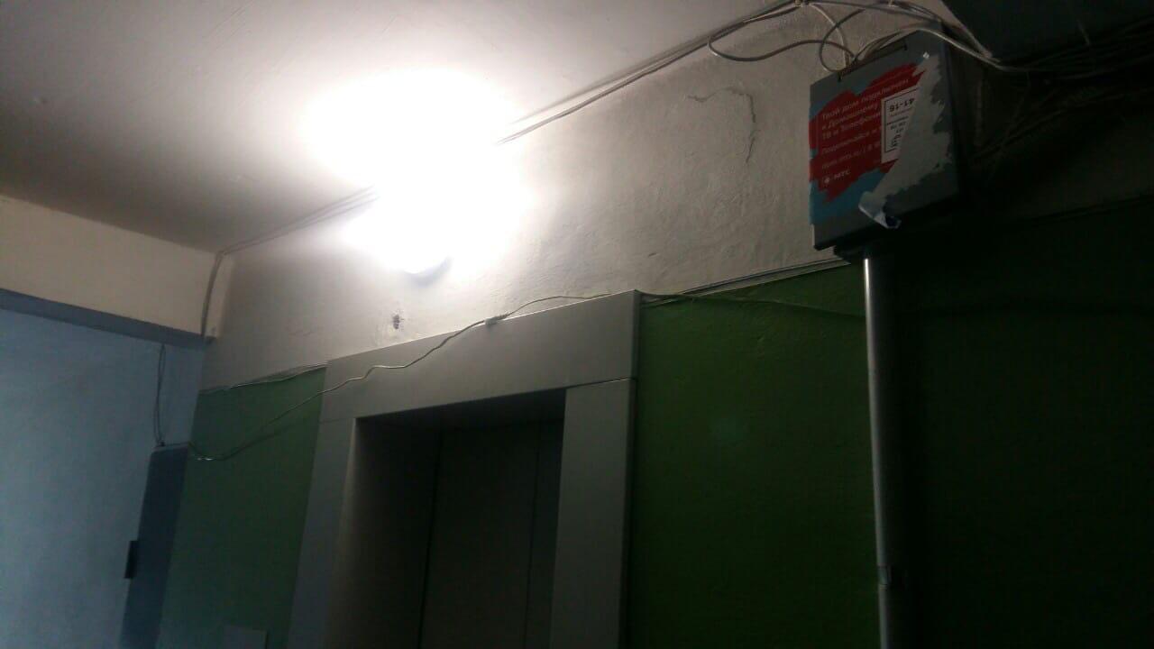 Улица Менделеева дом 7 восстановление освещения в