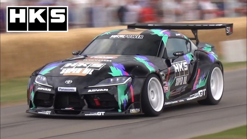 700HP 2JZ Toyota GR Supra Drift by HKS! - Nob Taniguchi at Goodwood FOS 2019!