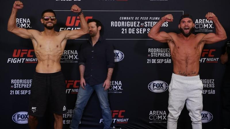 Битва Взглядов участников турнира UFC Мексика