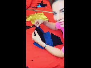 Анна Седокова рассказала как сшить маску своими руками