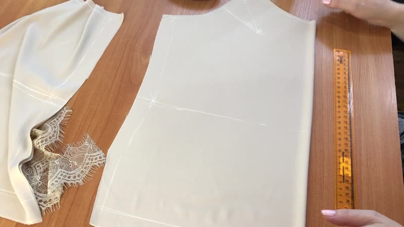 МК: Пошив шелковой майки. Часть 3