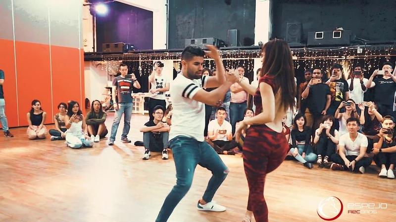 A pesar de la Dema Don miguelo ft Anthony Santos Marco y Sara Style Bachata workshop singapur