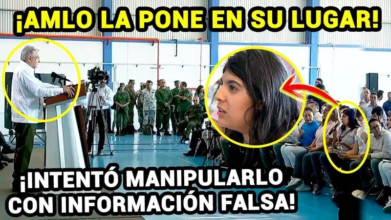 Periodista Intentó Manipular a AMLO con sus Preguntas ¡Pero la Pusieron en su Lugar!