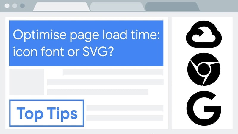 Optimise page load time icon font or SVG