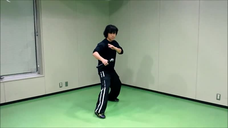 Ryoji Okamoto - Nunchaku practice (Basic combination) Technique (part 2)