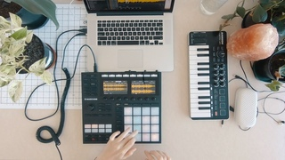 MAKING BEATS FOR FUN?! * Music Studio Vlog * ft. Maschine mk3 Beat