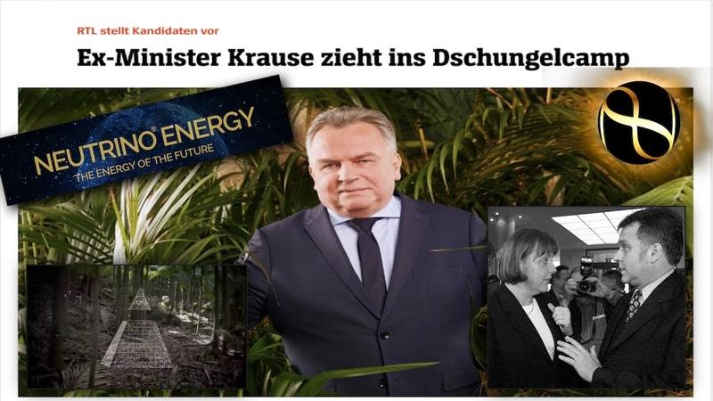 Ex Minister verkündet Lösung des Energieproblems im Dschungel Camp und erleidet Schwächeanfall