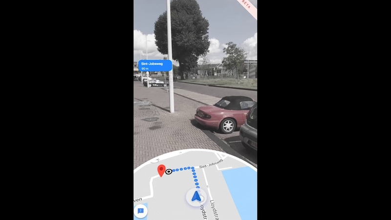 Walking with Google Live View AR in Google Maps