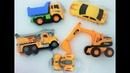 Мультик про Экскаватор ищет потерянные игрушки машинки и квадроцикл в снегу Funny toy cars