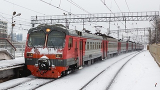 Электропоезда ЭД4М, подборка видео с электричками