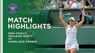 Ashleigh Barty vs Angelique Kerber | Semi-Final Highlights | Wimbledon 2021