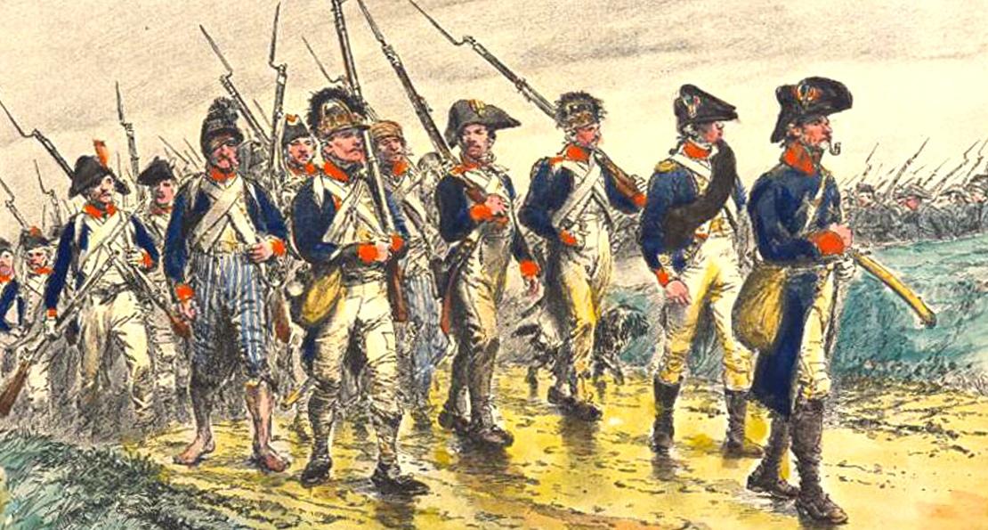 Солдаты на марше