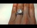4.18 ctw Radiant Cut Engagement Ring and Wedding Band Set - BigDiamondsUSA