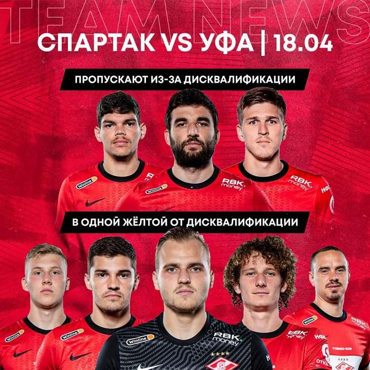 Джикия, Соболев и Айртон пропустят матч с «Уфой»