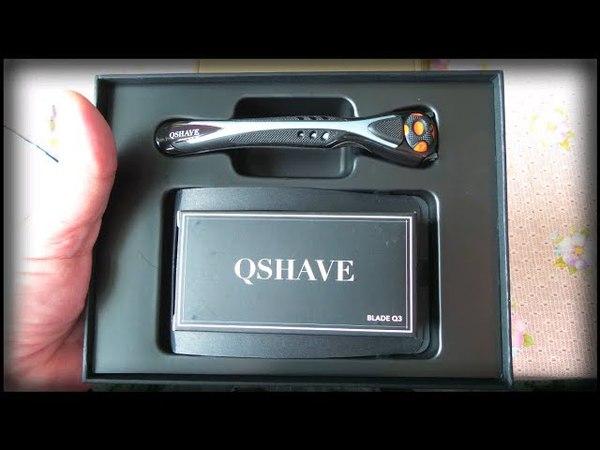 Бритвенный станок Qshave в подарочной упаковке Shaving machine Qshave in a gift box
