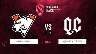 vs Quincy Crew - Game 3, Loser Bracket - ONE Esports Singapore Major 2021