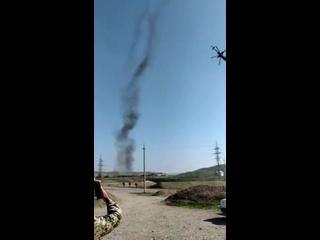 Видео ударов азербайджанских вертолетов Ми-35М по армянским позициям, Нагорный Карабах, октябрь 2020 года
