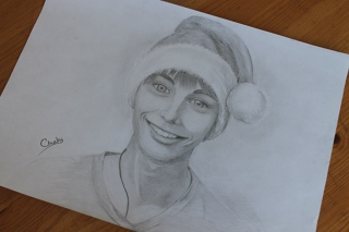 Меня нарисовали чуть-чуть)