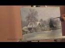 3 Урок живописи маслом для начинающих. Зимний пейзаж Вячеслав Сучков