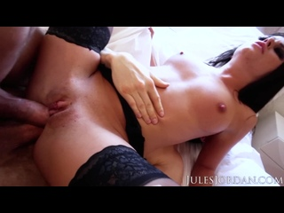 JULES JORDAN - ADRIANA CHECHIK GETS TWO COCKS IN HER ASS