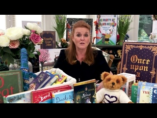 Sarah Ferguson reading Holly's First Day At School