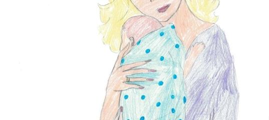 Рисую милой мамочки портрет