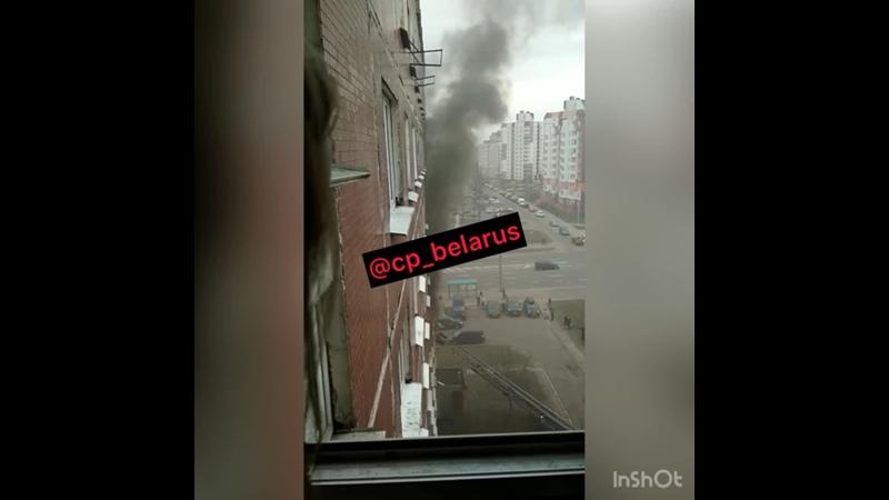 На Гурского сегодня горела общага студентов
